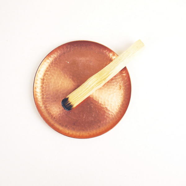 Sustainable Palo Santo Stick on Copper Dish