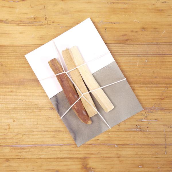 Sustainable Palo Santo Sticks on card