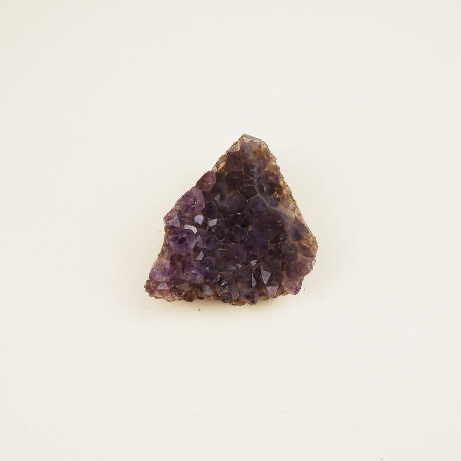 Amethyst cluster triangular